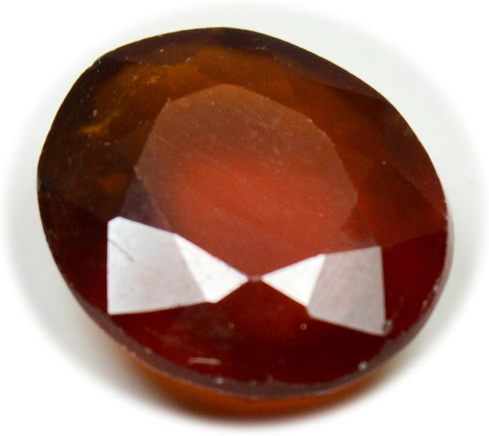 Piedra de granate natural de Hessonita facetada de 6,5 quilates, ovalada, 12 x 10 mm, piedra natalicia estrológica engomada de enero