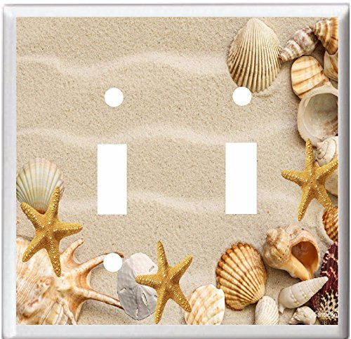 SEASHELLS STARFISH SWITCH OUTLET Toggle