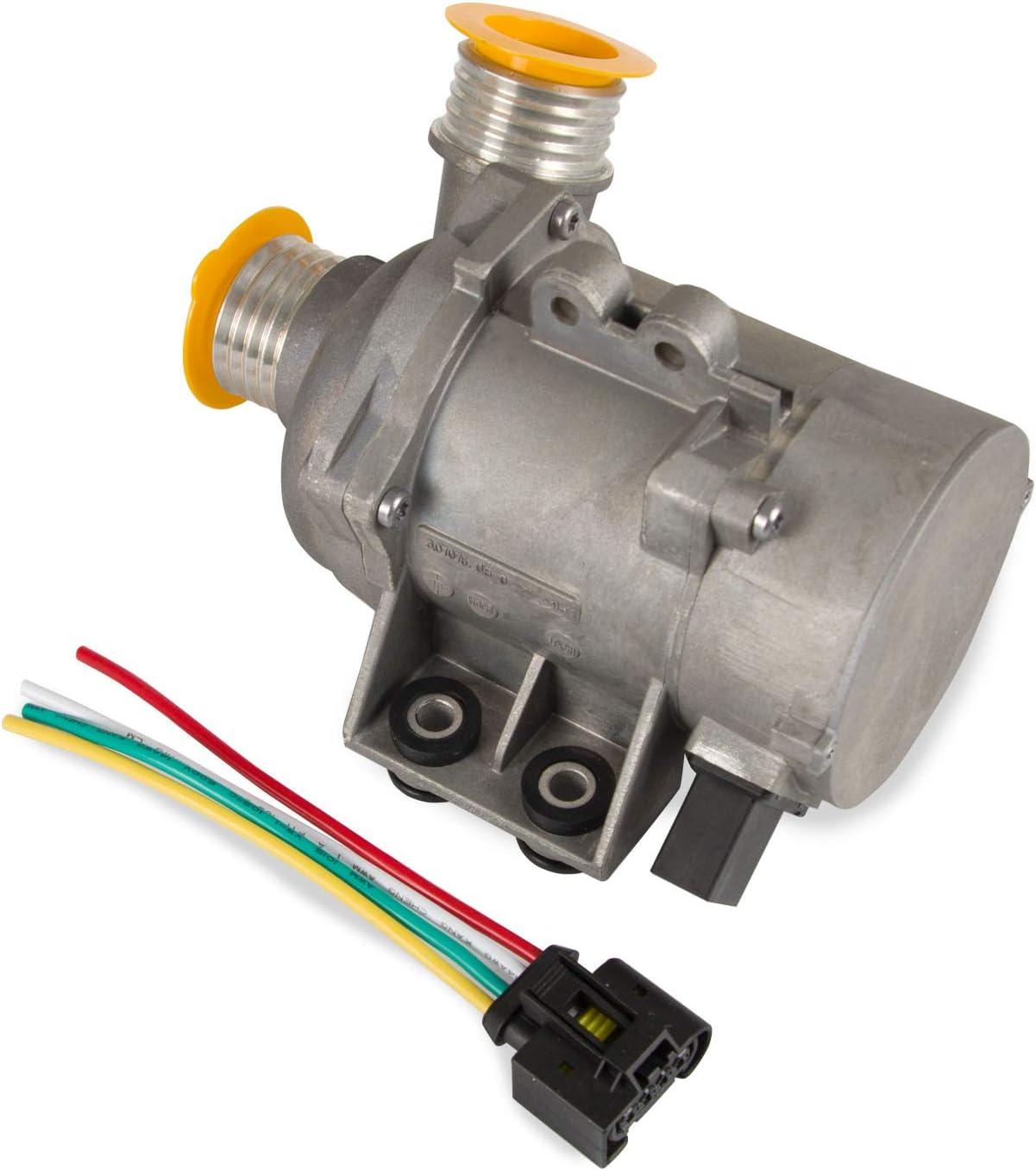 Electric Engine Water Pump for BMW X3 X5 Z4 128i 325i 328i 528i 530xi E81 E90 E91 E92 E93 E60 E61 E63 Replace Part Nmuber 11517586925, 702851208, 11517563183, 11510392553 (Silver)