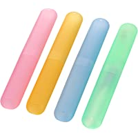 Miamour 4 Piece Plastic Toothbrush Cover, Multi Color