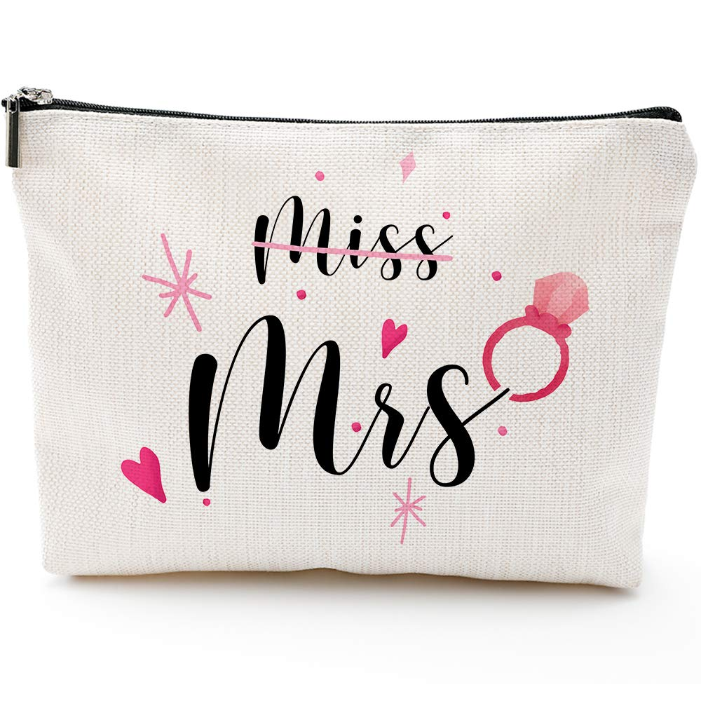 Miss to Mrs, Bridal Shower Gifts,Engagement Gifts Future Bride Gift, Future Mrs Gifts, Wedding Gift-Cosmetic Bag Gifts,Makeup Bag Gifts