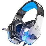 BENGOO V-4 Fone de ouvido para jogos para Xbox One, PS4, PC, controlador, cancelamento de ruído sobre fones de ouvido com mic