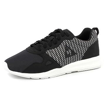 ea81b7d6e22c Le Coq Sportif LCS R600 GEO JACQUARD Chaussures Mode Sneakers Homme Noir  Gris Blanc