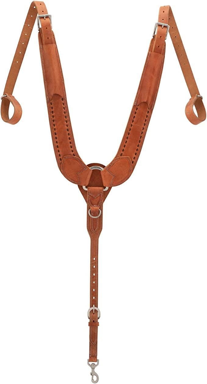 Weaver Leather Rough Out Oiled Contoured Breast Collar