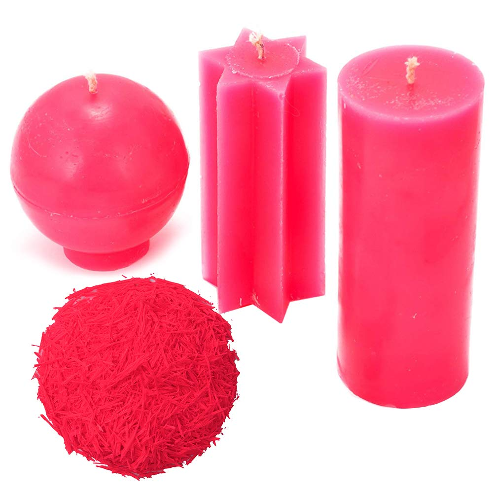 CandleDiy A Great Candle Color Dye Choice, 2.5 oz Candle Dye Pink Wax Dye for Soy Candles(80 lb Wax) Natural Candle Dye Blocks for Candle Making-Candle Dye kit