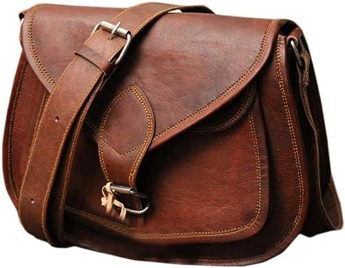 Classic Women/'s Pure Leather Genuine Handmade Shoulder Crossbody Messenger Bag