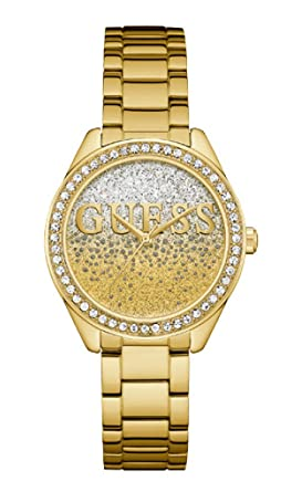 Guess Reloj Analógico para Mujer de Cuarzo con Correa en Acero Inoxidable W0987L2: Amazon.es: Relojes