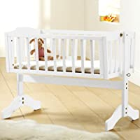Saplings Bethany Swinging Crib (White)