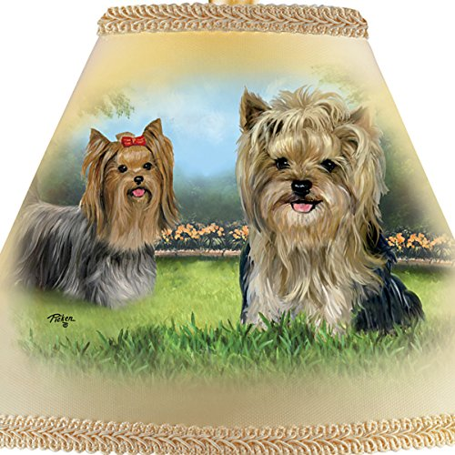 Linda Picken Darling Yorkie Accent Table Lamp With Sculpted Yorkies Base by The Bradford Exchange by Bradford Exchange (Image #2)