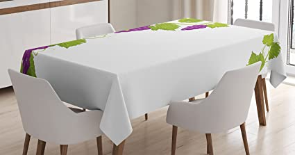 Amazon Com Ambesonne Grapes Home Decor Tablecloth Latin Brochure