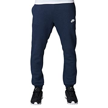 NIKE Mens Jogger Club Fleece Sweatpants Obsidian Heather/White 804408,473  Size X,Large