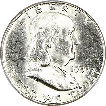 1955 p franklin halves half dollar ms64 pcgs fbl at amazon s Half Dollar 2018 1955 p franklin halves half dollar ms64 pcgs fbl