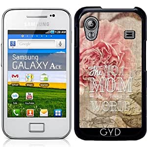 Funda para Samsung Galaxy Ace (GT-S5830) - Claveles Vendimia Mejor Madre by Gatterwe