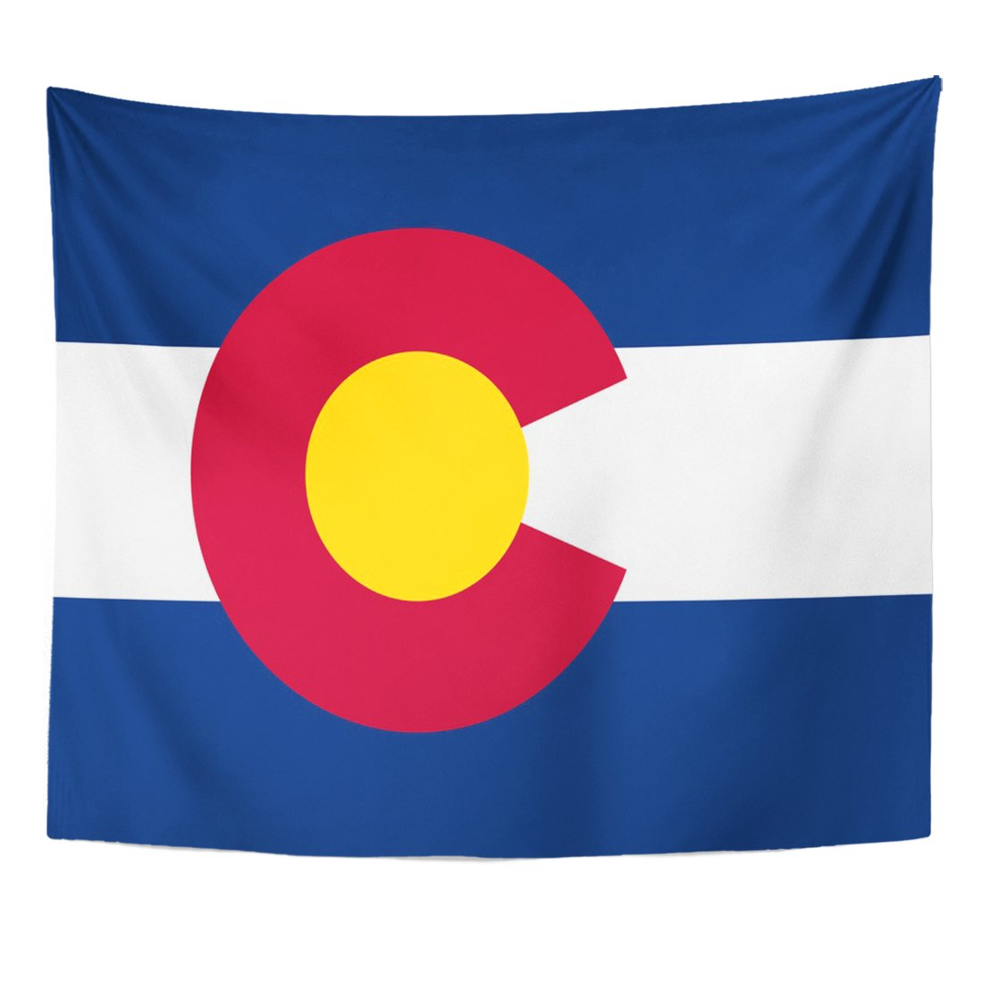 TOMPOP Tapestry State High Detailed Flag of Colorado Abstract America Home Decor Wall Hanging for Living Room Bedroom Dorm 50x60 Inches