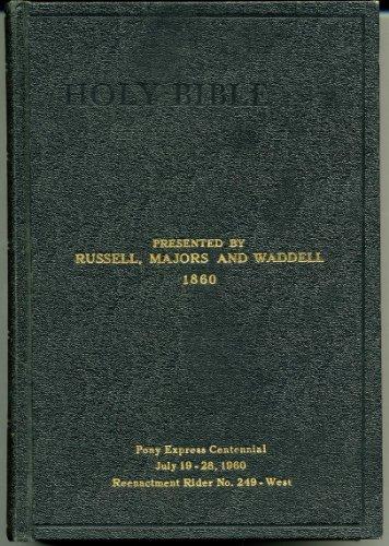 Holy Bible Pony Express Centennial 1860-1960 -