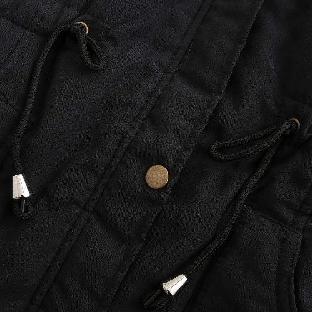 Kangma Outwear Women Warm Long Jacket Fur Collar Hooded Coat Big Size Parka Windbreaker Black