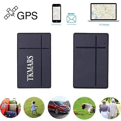 Hangang Mini Rastreador GPS, TKMARS gsm SIM Tracking Ubicación en Tiempo Real Localizador GPS antirrobo Teclas satelitales Búsqueda portátil de Mini Llaves ...