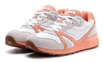 Diadora Unisex N9000 III White Peach Pink 8.5 Men M US bfd2c6cbe