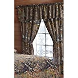 Camouflage Curtains The Woods Natural Green Camouflage 5pc Curtain Set by Regal Comfort For Hunters Cabin or Rustic Lodge Teens Boys and Girls (Curtain , Natural Green)