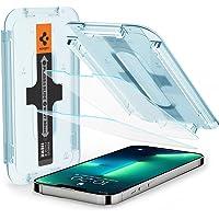 Spigen Glas.tR EZ Fit Screenprotector compatibel met iPhone 13, iPhone 13 Pro, 2 Stuks, met Sjabloon voor Installatie…