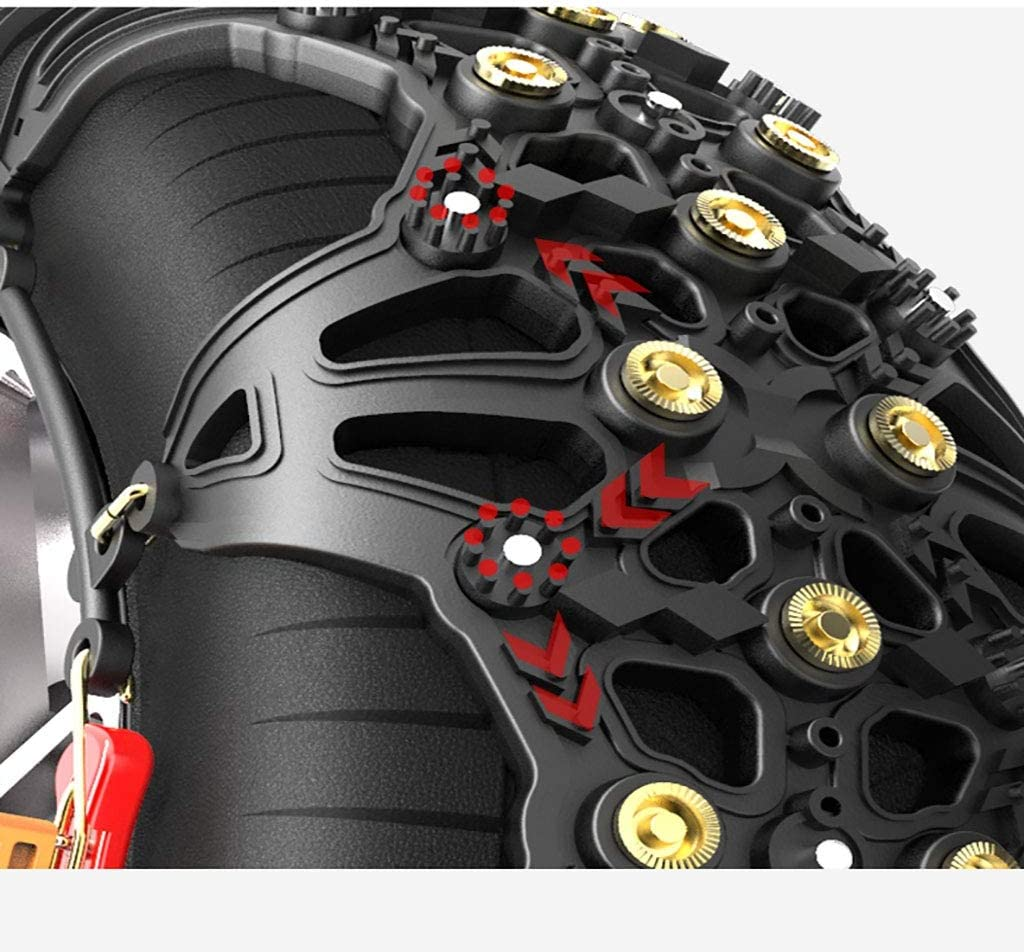 Size : 235//55R20 DWCL Snow Chains for Tyres Car Tire Chain Easy to Mount Tire Snow Chain Anti-skid Emergency Snow Socks Tyre Anti-slip,1 Set Of 2 Tires