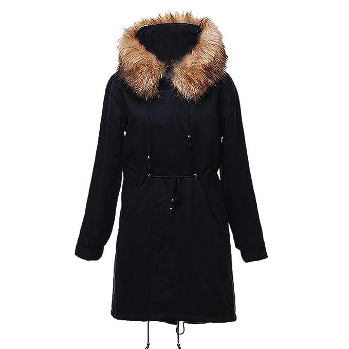 Luckycat Moda Invierno Cálido Chaqueta para Mujer de Lana de Cordero Abrigo de algodón Parka Más