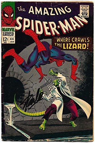 Stan Lee Hand Signed Spiderman #44 Comic Book Graded Gem Mint 10! V078
