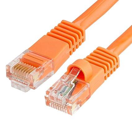 Computer Cables & Connectors 50ft Cat5e Rj45 Network Lan Router Ethernet Internet Patch Cable Cord Cca Orange