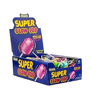 Charms Super Blow Pops 48 Lollipops/Box,Assorted Flavors