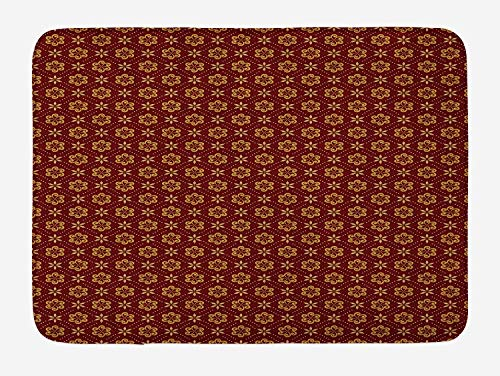 Weeosazg Abstract Bath Mat, Dotted Pattern with Swirled