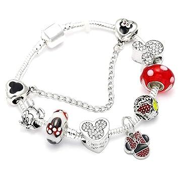 e4ae8b5bc69e FGTYJ Dropshipping Mickey Minnie Charm Bracelet con Marano Beads Fit  Original Marca Pulsera para Niños Niñas Mujeres Regalo De La Joyería   Amazon.es  Hogar