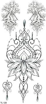 Animal acuarela boceto pareja carta flor tatuaje pegatina flor brazo ...