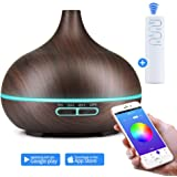 K KBAYBO 550ml WiFi Cool Mist Humidifier,Aromatherapy Diffuser,Waterless Auto Shut-Off and 7 Color LED Lights Changing for Office Home Bedroom with APP Alexa & Google Home