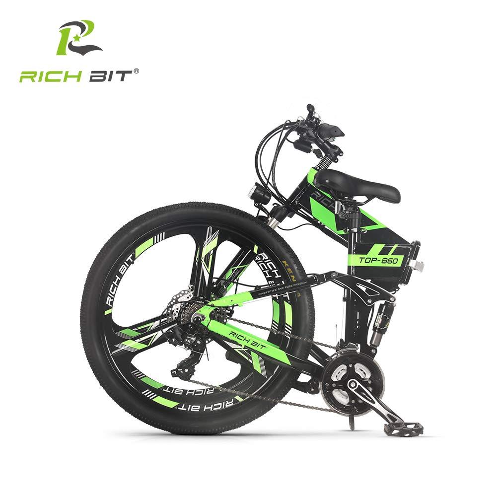 Eléctrico Plegable para Bicicleta de montaña para Bicicleta MTB RT860 250W*36V*8Ah 26, Doble suspensión 21speed Shimano dearilleur LG células de la ...