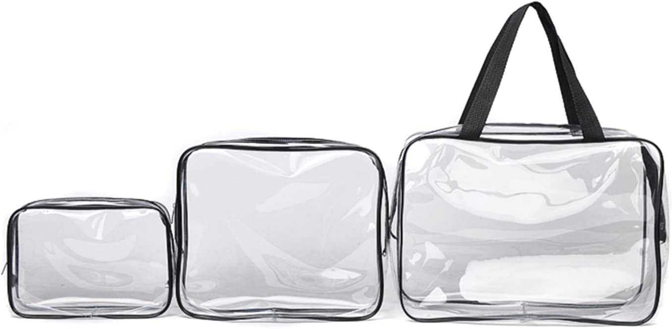 actividades al aire libre senderismo bolsa de mano Txian 3/x neceseres transparentes con cremallera neceser de viaje ideal para deportes impermeable bolsa hecha de materiales de PVC