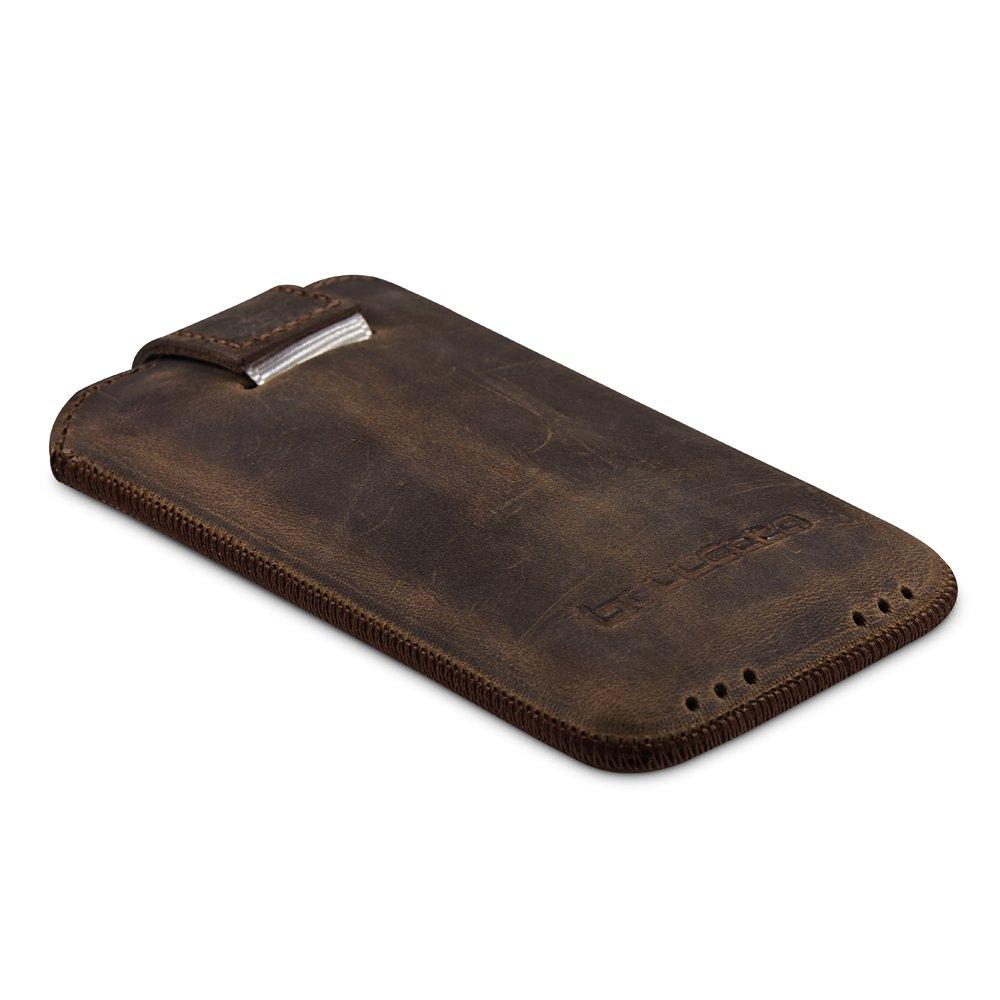Bouletta MC ANTIC Braun iPhone 4S 4 Echt Leder Tasche Etui Hülle Case Handytasche Schutzhülle Rausziehlasche Magnetverschluss 100% Passgenau