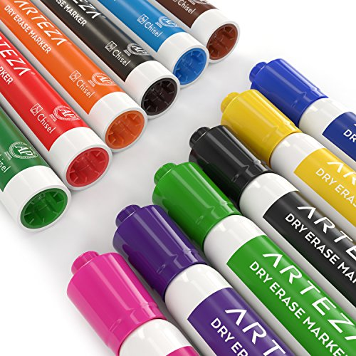 Arteza Dry Erase Markers, White Board Pens, 12 Colors, Multicolor, Set of 48 Photo #5