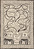 Tree of Life with Elephant Pair - Madhubani Painting on Hand Made Paper - Folk Painting from the Vil