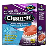 Clean-It Denture Wipes, 40-Count, (Pack of 6)