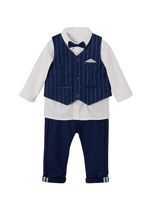 VERTBAUDET Ensemble bébé garçon cérémonie gilet + chemise + noeud ...