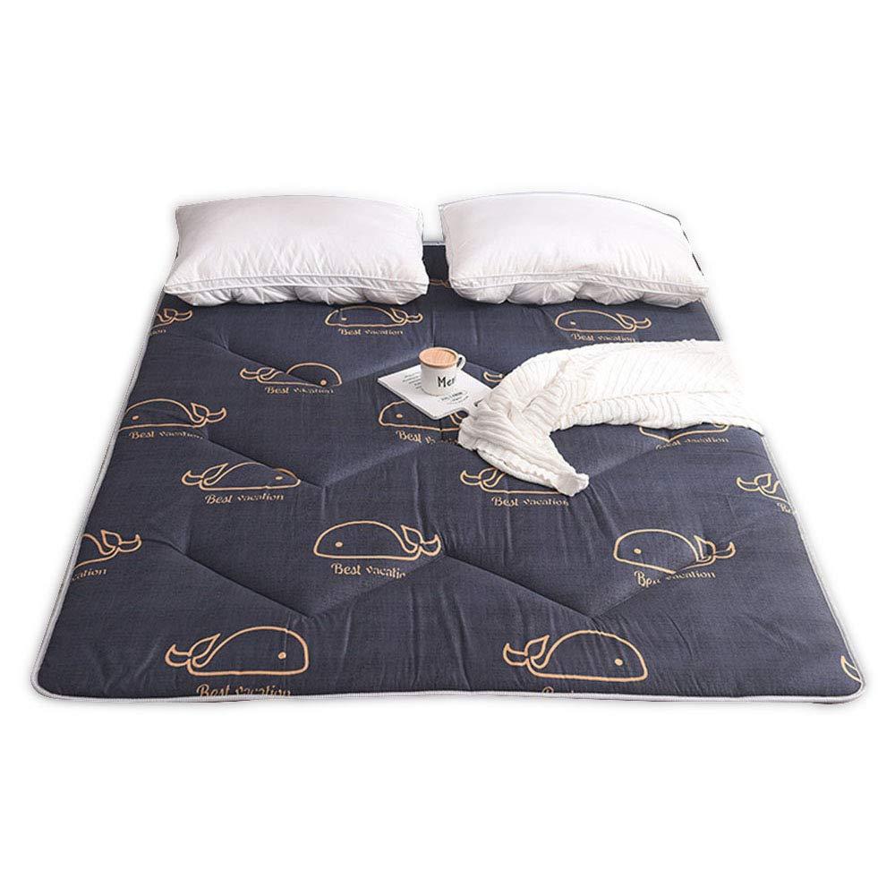 D 90x200cm Cartoon Printed Folding Futon Mattresses, Non-Slip Quilted Tatami Floor Mattress Dormitories Hotel Bed Mattress Predector Durable - 100x200 cm (39x78 Inch),E,180x200cm