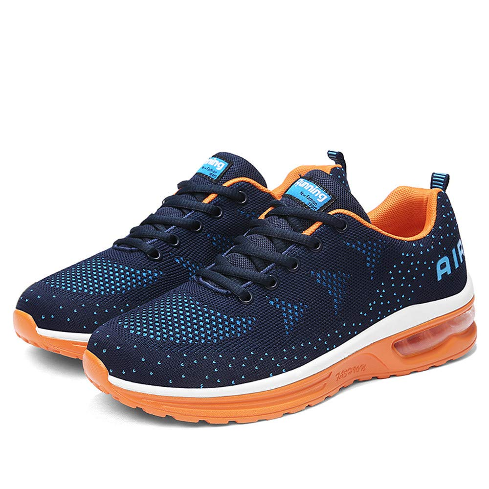 Sneakers For Women And Men, HOT SALE !! Farjing Lightweight Athletic Running Shoes Breathable Sport Fitness Jogging Sneakers(US:10.5,Dark blue)