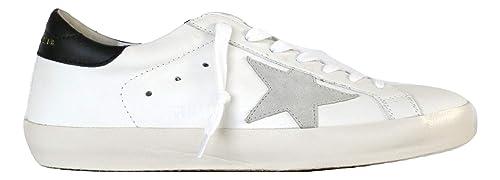 dd6d2eff13a25 Golden Goose Scarpe Sneakers Uomo Vintage Superstar G32MS590.E73 Bianco  Nero n. 39 EU