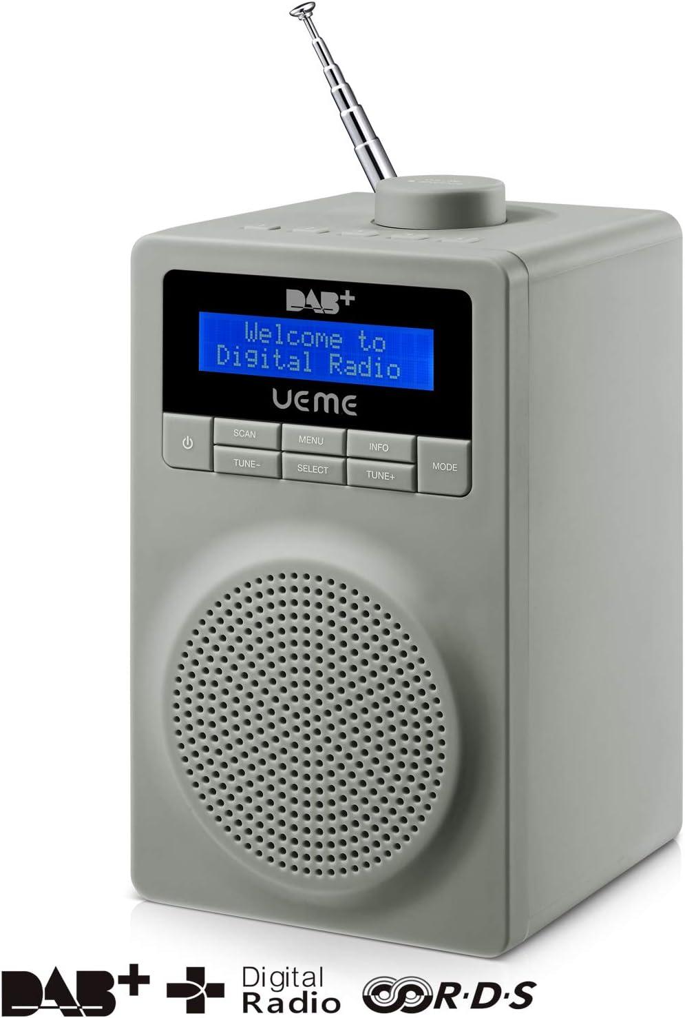 Ueme DB-18 - Radio Digital (Dab+/FM), Color Gris: Amazon.es