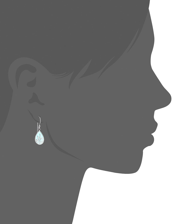 Elements Sterling Silver Women's E4562T Blue Enamel Teardrop Earring yMAEmG6du