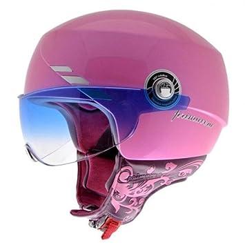 NZI 050240G203 Primavera Metallic Pink Casco de Moto, Blanco, Talla 57 (M)