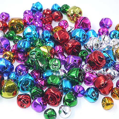 - Craft Kits And Supplies 100 Mix Colorful Christmas Jingle Bells