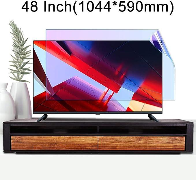 ZSLD Película Protectora De Pantalla De TV LCD Antirreflejo De 48 Pulgadas, Filtro De Luz Azul/Rayado Antideslumbrante, Protección Ocular para LED OLED (1056 * 596MM): Amazon.es: Hogar