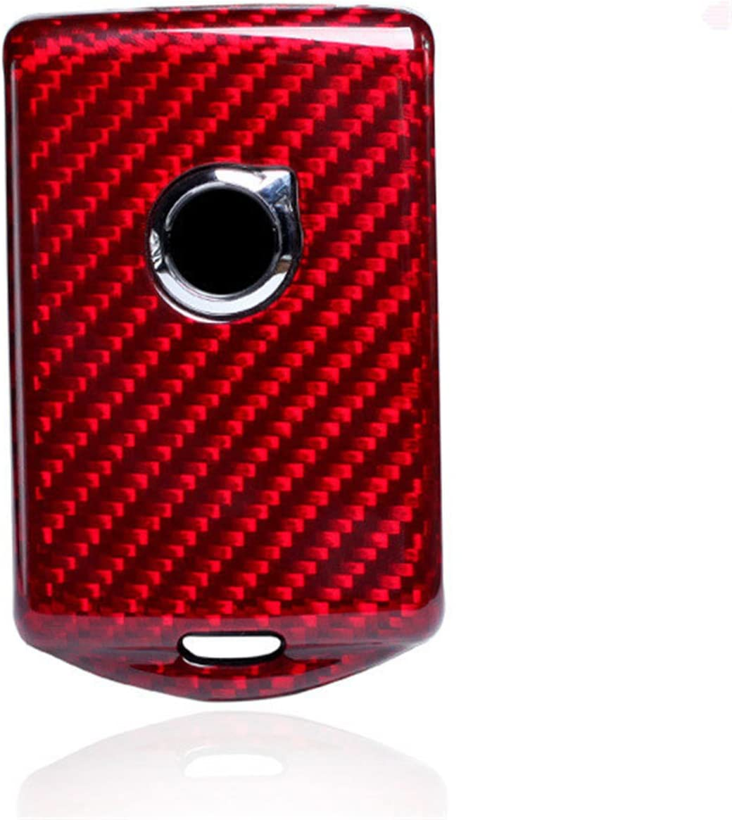 100/% Carbon Fiber Case For Volvo Key Fob Genuine Carbon Fiber Cover For Volvo XC60 2018 Smart Fob Remote Key New Hot Car Key Fob Case Protector For Men Fob Cover Skin For Women Red