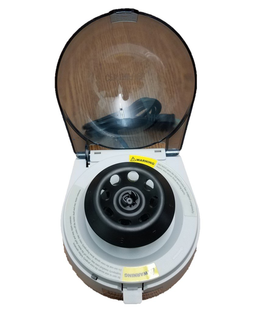 Mini Desk-top Centrifuge, Adjustable Speed at 4000 RPM and 7200 RPM, 2 Rotors for for 8 x 2.0/1.5 ml and 2 x 8-Strip PCR Tubes, 110V by Microyn